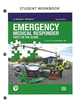 Emergency Medical Responder: First on Scene 11th edition Workbook