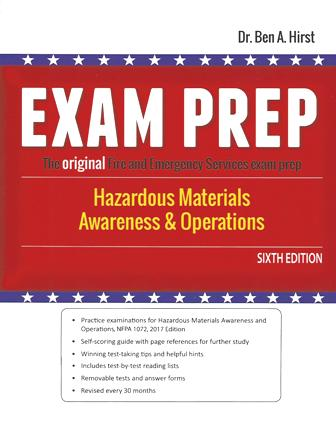 Exam Prep Hazardous Materials Awareness and Operations, 6th edition
