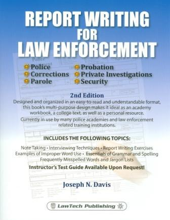 report writing for law enforcement