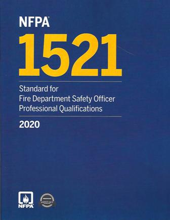 NFPA 1521 Safety Officer 2020 edition
