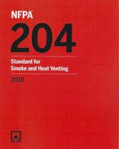 NFPA 204: Standard for Smoke and Heat Venting 2018 edition