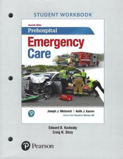 Prehospital Emergency Care, 11th edition Student Workbook