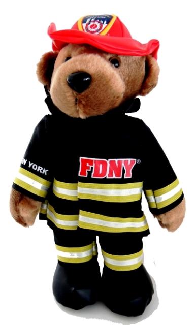 248756b6e2c FDNY Plush Bear