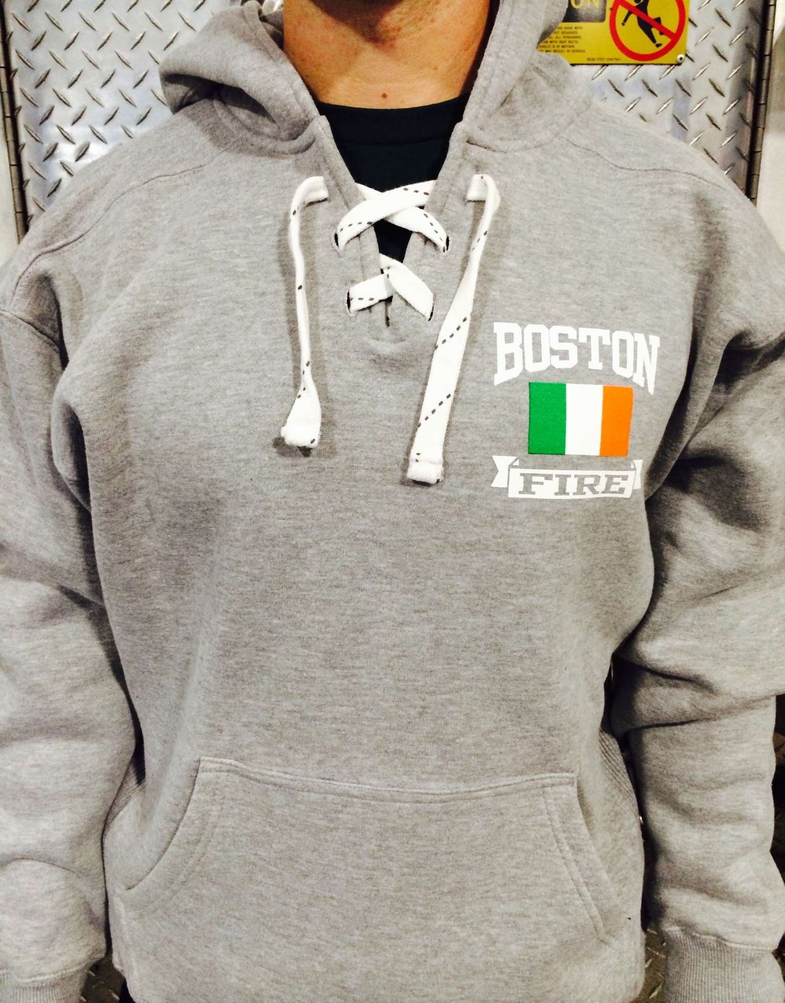 Fire Department Irish Flag Hoodie Sweatshirt