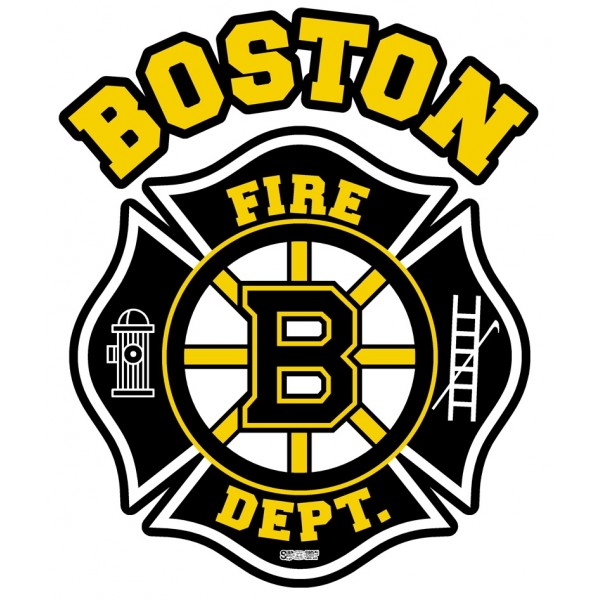 Well-known Boston Fire Department Hockey Decal IU53