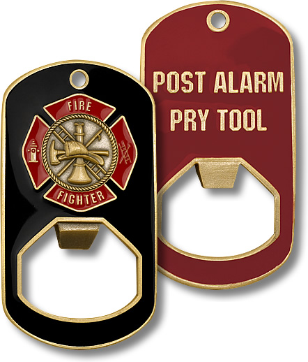 Firefighter Pry Tool Bootle Opener