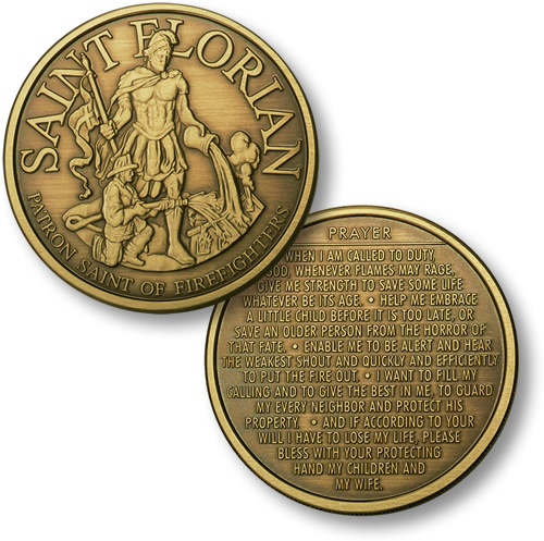 St. Florian - Firefighter's Prayer Coin