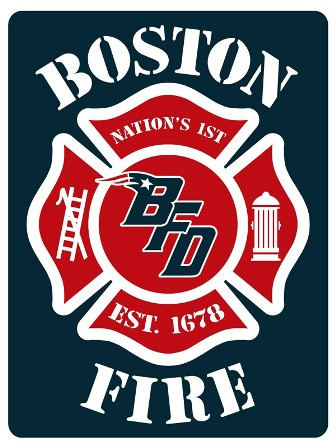 Boston Fire Football Decal
