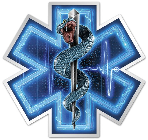 EMT Silver Snake Decal