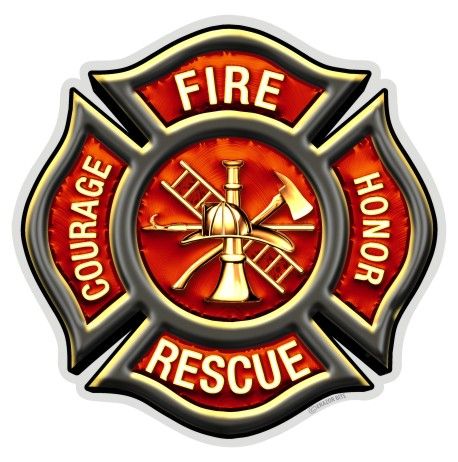 FIRE DEPARTMENT SERGEANT Highly Reflective Vinyl Decal for Firefighters