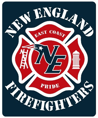 New England Firefighters Football Decal