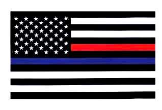 Thin Blue Line and Thin Red Line Flag