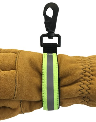 Lime Green Reflective Glove Strap