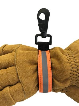 Orange Reflective Glove Strap