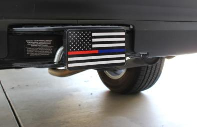 Thin Blue and Red Line Flag Hitch Cover