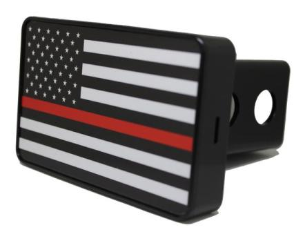 Thin Red Line Flag Hitch Cover