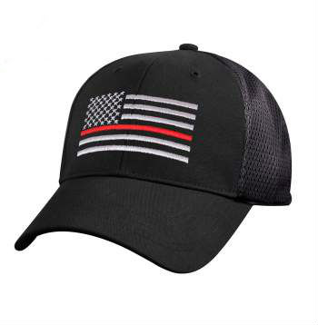 THin Red Line Mesh Back Cap
