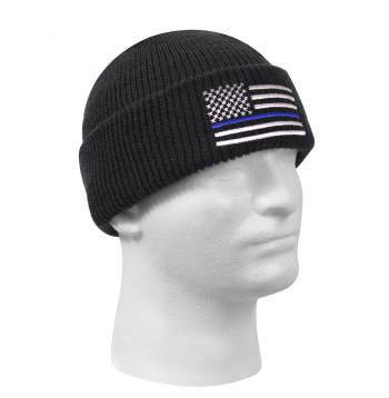 Thin Blue Line Embroidered Winter Cap