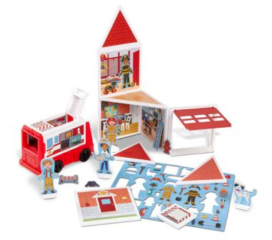 Fire Station Magnetic Building Play Set
