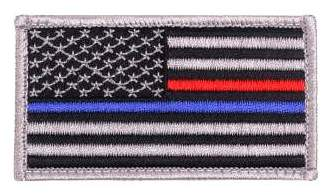 Thin Blue Line and Thin Red Line US Flag Patch