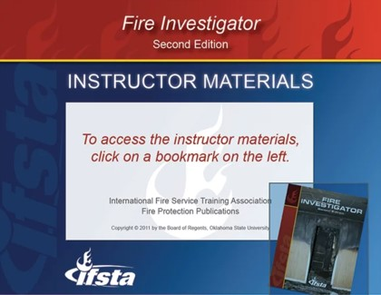 Fire Investigator, 2nd Edition Curriculum USB