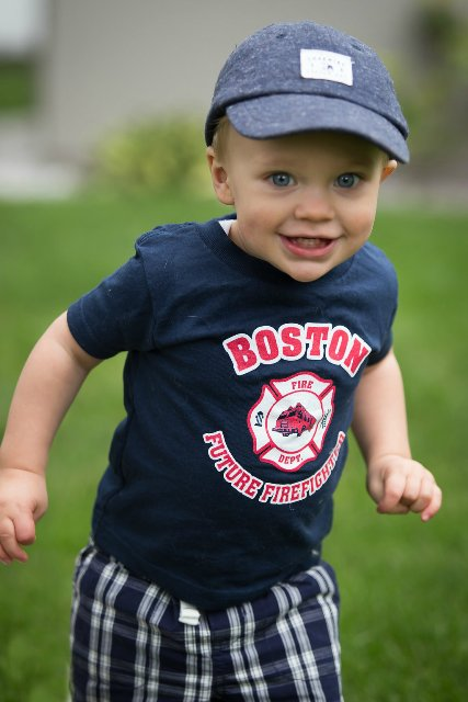 Future Boston Firefighter Navy Blue Tee Shirt