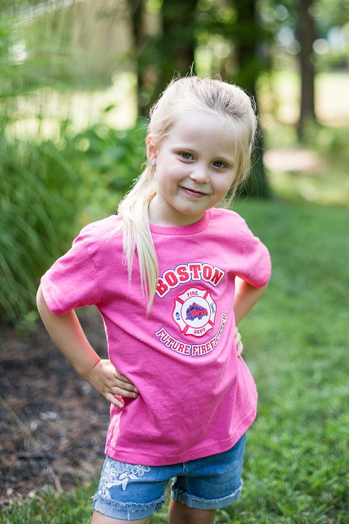 Future Boston Firefighter Pink Tee Shirt
