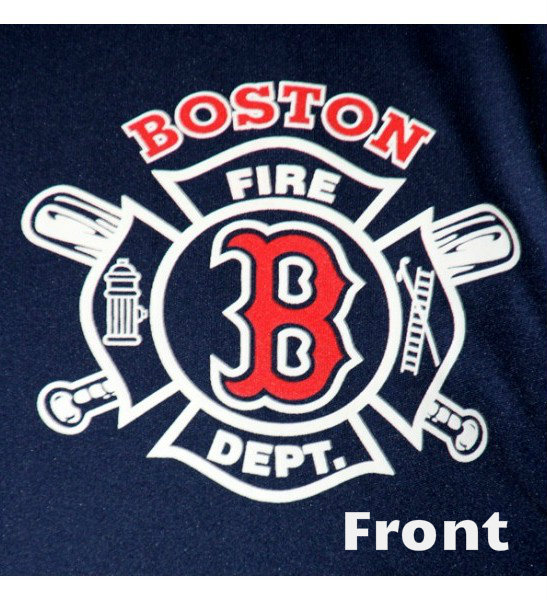 boston fire department baseball tee shirt