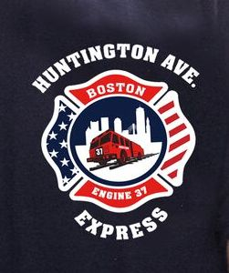 Boston Fire Engine 37 T-Shirt Maltese Cross Logo