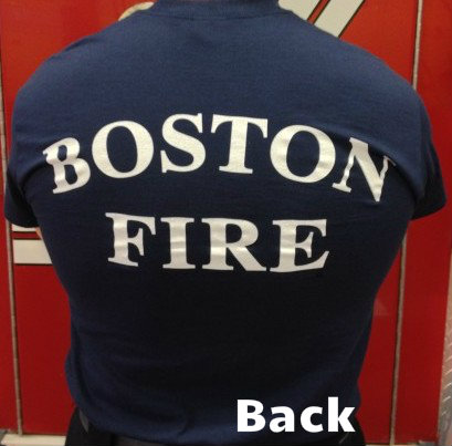 Boston Fire Department Station Tee Shirts Navy Blue