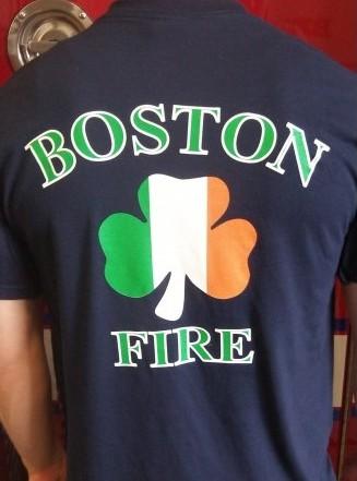 boston fire department irish tee shirt