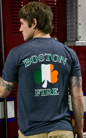 Boston Fire Fir Nat Tine Shirt Heather Navy