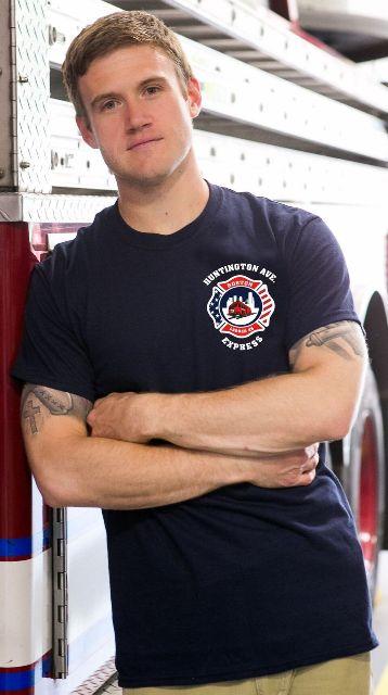 Boston Fire Ladder 26 T-Shirt Front