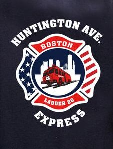Boston Fire Ladder 26 T-Shirt Maltese Cross Logo