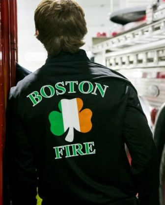 Boston Fire Irish Pullover Back