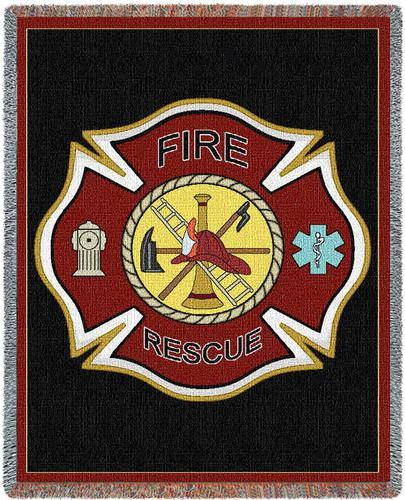 firefighter's shield throw blanket