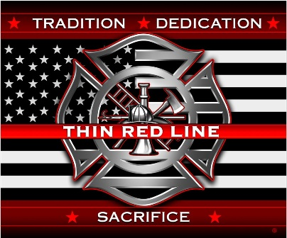 Thin Red Line Throw Blanket