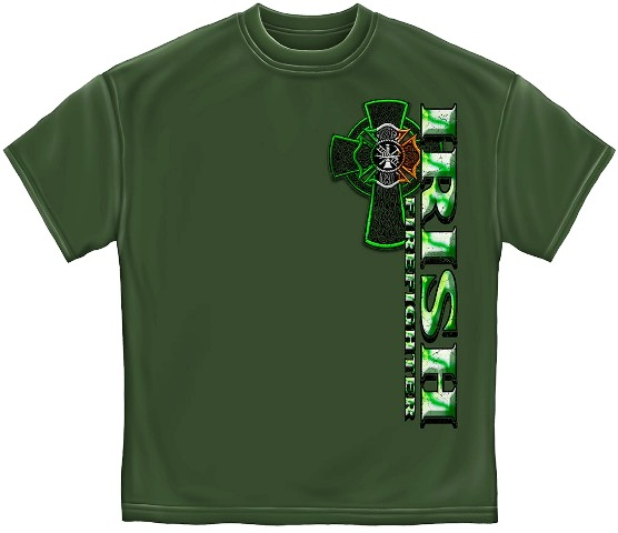 irish Firefighter Tee Shirt Front