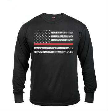 Thin Red Line Long Sleeve Tee