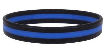 Thin Blue Line Wristband