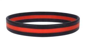 Thin Red Line Wrist Band